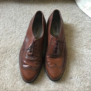 Bally Brown Leather Oxford Shies Size 8.5